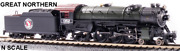 Broadway Limited Paragon3 Usra Heavy Pacific 4-6-2 1352 Great Northern N Scale