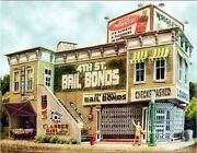 Bar Mills 132 Ho Scale 4th Street Bail Bonds And Kitchen Kit