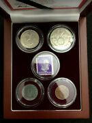 Ww2 Certified German Coins Two Silver One Zinc And Bronze Mint Stamp Display Box