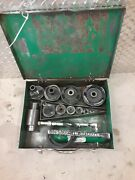 Greenlee 7310 Hydraulic Knockout Punch Set Greenlee 746 767 1/2andrdquo-4 Conduit 9030
