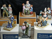 6 Different Norman Rockwell Figurines