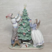 Lladro Figurine 5897 Trimming The Tree As Is