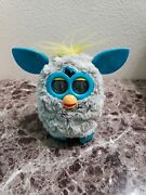 Hasbro Furby 2012 Gray Blue And Yellow Electronic Interactive Toy Working Order