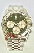 Tudor Vintage Monarch Chronograph Watch Stainless Steel With Date