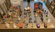 Lot Of 48 Disney Infinity Characters Power Disc Album Storage And Wii 3.0 Disc.