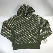 New Champion Green Reverse Weave All Over Print Hoodie Jacket Men Size L And Xl