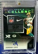 2020 Panini Xr Rookie Xcellence Rpa Nike Laundry Tag Patch Auto 1/1 Packers