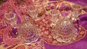 Antique Cut Glass Crystal Candle Stick Holders.