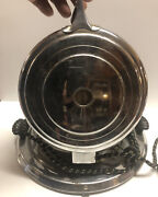 Vintage Manning Bowman Round Art Deco Metal Waffle Iron 1637-tested