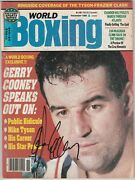 World Boxing Magazine Gerry Cooney Autographed Cover November 1986
