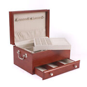 American Chest Company Contessa 1 Drawer Jewelry Box W/ Lift-out Tray Cherry