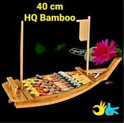 New Hq Japanese Style Wooden Sushi Platter Plate - 40 X 16 Cm Boat 🇦🇺🎎