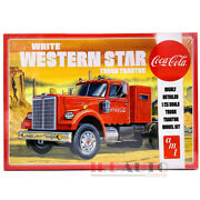 Amt Skill 3 Model Kit White Western Star Truck Tractor Coca-cola 1/25 Amt1160