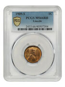 1909-s Lincoln 1c Pcgs Ms66 Rb - Scarce First-year Issue - Lincoln Cent
