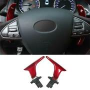 Real Red Carbon Fiber Steering Wheel Shift Paddles For Infiniti Q50 2014-2021
