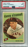 1959 Topps 87 Danny O'connell Psa 9 Mint San Francisco Giants
