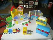 Peppa Pig Playsets With 89 Figures Furniture Bus Plane Car And More Huge Toy Lot