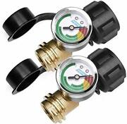 Dozyant 2 Pack Upgraded Propane Gas Pressure Gauge For 5 To 40lb Propane Tank Wi