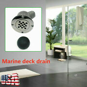 Mirror Polished Boat Scupper Drain With 40mm Ball 1-1/2 Marine Deck Drain Tools