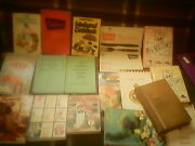 18 Rare Old Cookery Books. Birthday Present. Free Uk Postage. Buy Now Andpound26