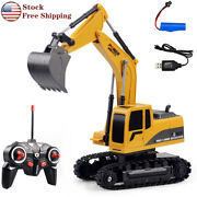 Remote Control Excavator Rc Car Tractor Truck Toy Digger Vehicle 6 Channel 124
