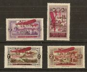 4 Lebanon 1928 Airs Sg141-144a Mint Opt Errors With Rps Certificates Rare