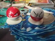 Pokemon Mini Figure Electrode & Voltorb Figures Not Tomy Compare To Tomy In Pics