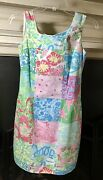 """Lilly Pulitzer """"lily Patch"""" Signature Dress Size 4 New"""