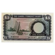 Jcr_m Gambia 5 Pounds 1965 P.3 A.uncirculated
