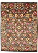 Hand-knotted Carpet 8and03911 X 11and0390 Transitional Oriental Wool Area Rug
