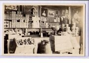 Real Photo Postcard Rppc Grocery Store Displays And Signs Coca Cola Zieglers Choco