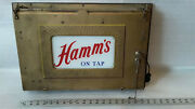 Vintage Rare 50and039s Hammand039s Beer Light Up Sign Nice Look Works Brass Glass