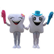 Smiling Tooth Dentist Mascot Costume Xmas Halloween Fancy Party Adult Dress Gift