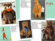 Halloween Inflatable Brown Bear Mascot Costume Cosplay Party Dress Outfits Xmas