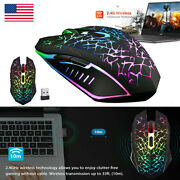 18pcs Wireless Usb Optical Mice Gaming Mouse 7 Color Led Backlit For Laptop Lot
