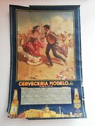 Antique Vintage Corona Beer Wall Calendar Mexican Folk Art From 40and039s Rare Htf