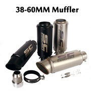 38-60mm Universal Modified Exhaust Pipe Tail Mufflers Stainless Steel Motorcycle