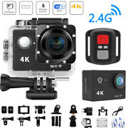 Motorcycle Mini 4k Helmet Driving Recorder 2.0and039and039 Waterproof Vcr Sports Dv Camera