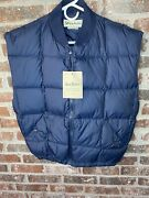 Gander Mountain Menand039s Basic Down Vest Goose Fill Puffer Blue Size Medium New Nwt