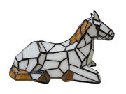 Stained Glass Colt Pony Table Lamp Night Lighting Home Decoration Gifts