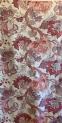 Beautiful Late 19th /. Early 20th C. French Print Jacobean Cotton Fabric 5026