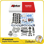 Head Gasket Set Timing Chain Kit Oil Water Pump Fit 04-08 Ford E-150 E-250 5.4l