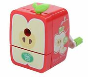 Cute Apple Apple Safety Tabletop Pencil Sharpener Manual Pencil-cutting Device S