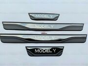 For Tesla Model Y Accessories Door Sill Scuff Plate Cover Protector Trim Sticker