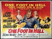 One Foot In Hell Original Quad Movie Poster Alan Ladd Tom Chantrell 1960
