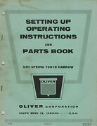Oliver Vintage Sth Spring Tooth Harrow Operatorand039s Parts Manual