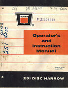 Oliver Vintage 251 Disc Harrow Operatorand039s And Instruction Manual 1966