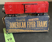 Gilbert 3/16 S Scale American Flyer No. 633 Baltimore And Ohio Red Box Car Caboose