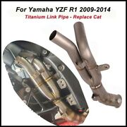 For Yamaha Yzf R1 2009-14 Titanium Motor Mid Link Pipe Remove Stock Catalyst Cat