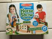 New Melissa And Doug Train And Jump Horse Show Play Set
